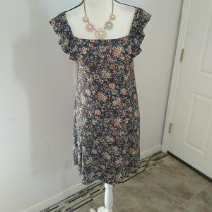 Ann Taylor LOFT floral mini dress size xsmall